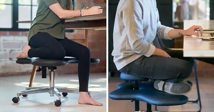 Рабочие кресла для любителей сидеть, поджав ноги