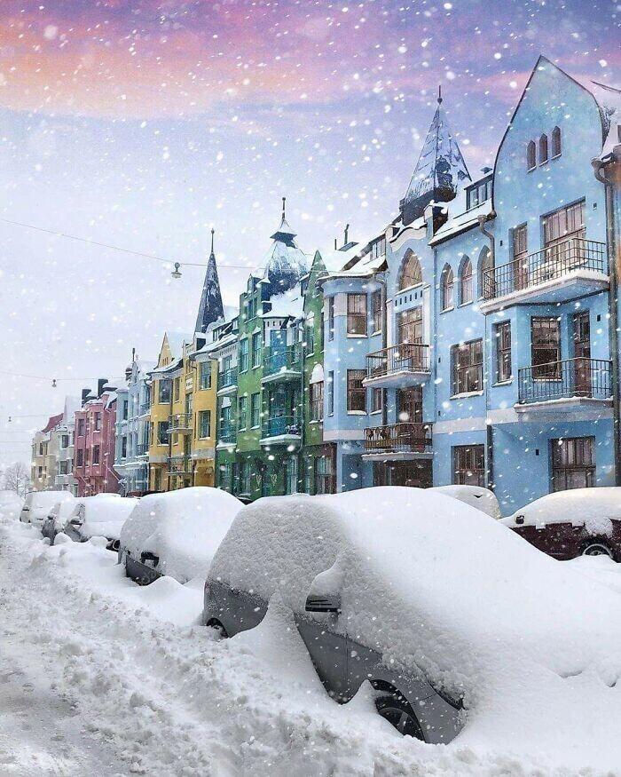 Снегопад в Финляндии