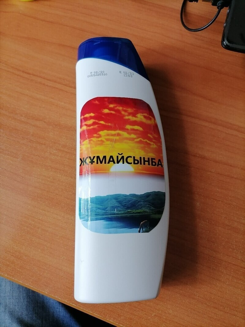 В Казахстане сделали похожую этикетку. Но шампунь же сразу узнали?