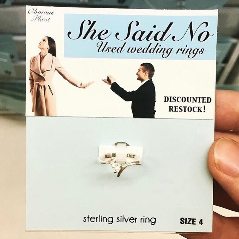 """Использованные обручальные кольца """"Она сказала """"Нет"""""""