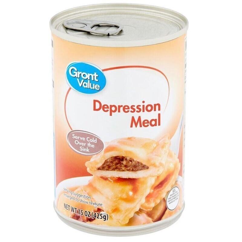 Еда для депрессии. Грустные равиоли, которые предлагается есть холодными из банки над кухонной раковиной