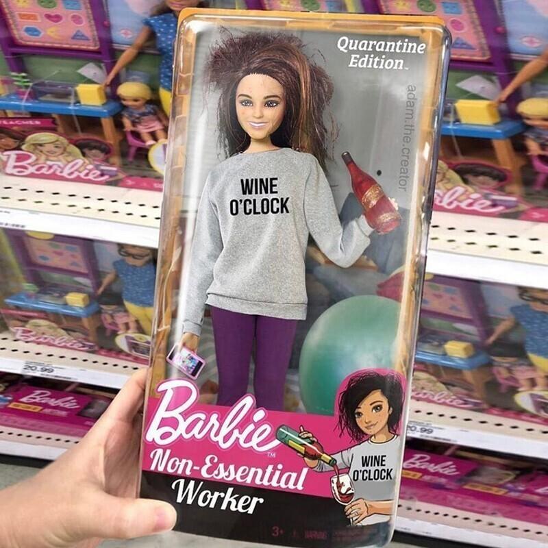 Барби - карантинная версия