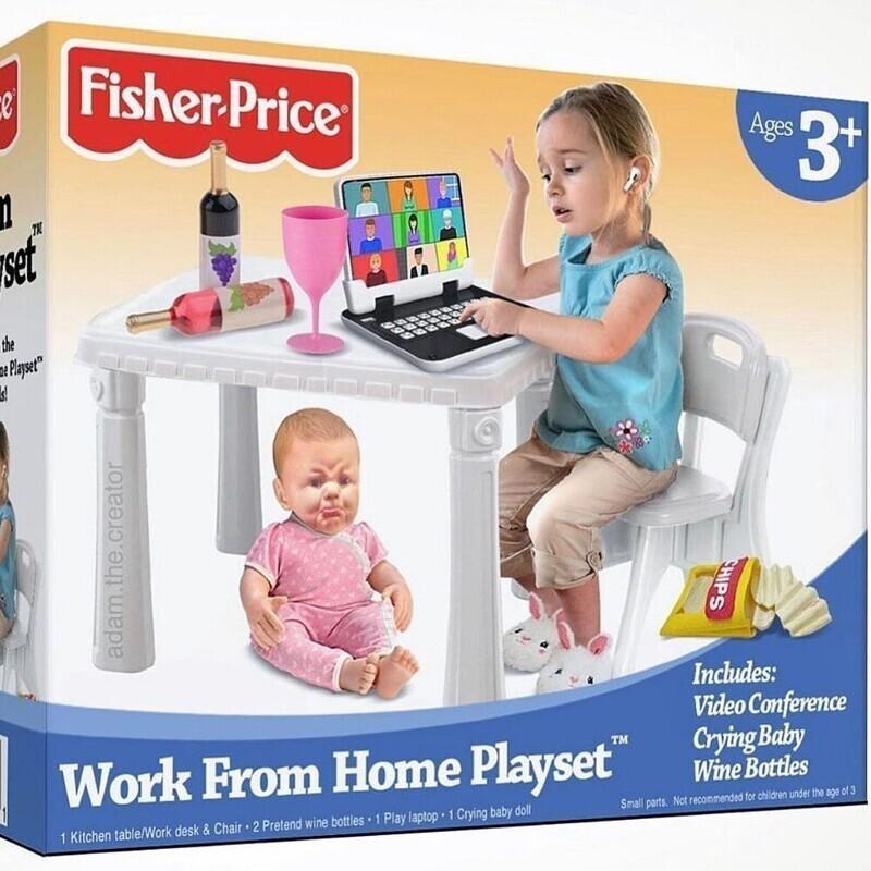 """Набор """"Работа из дома"""". Все необходимое для того, чтобы ваш ребенок почувствовал себя взрослым во время пандемии"""