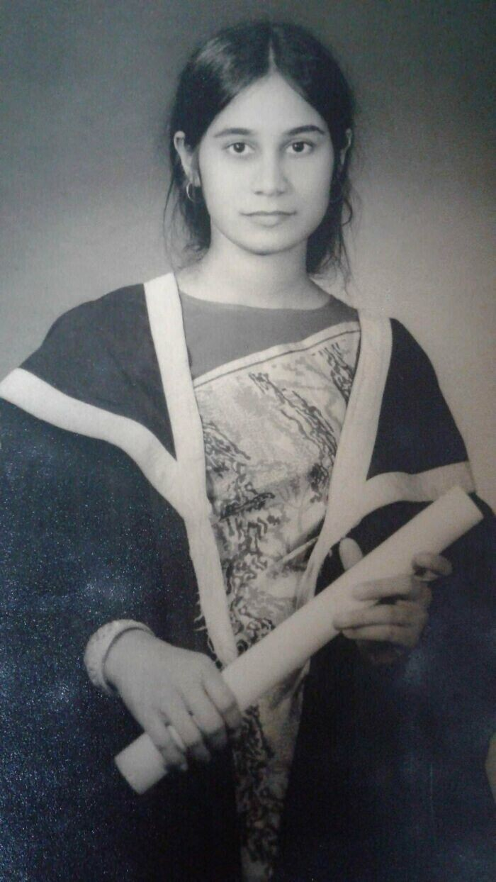 """""""Моя мама в 1970-м. Она только что получила университетский диплом - первая в своей семье"""""""