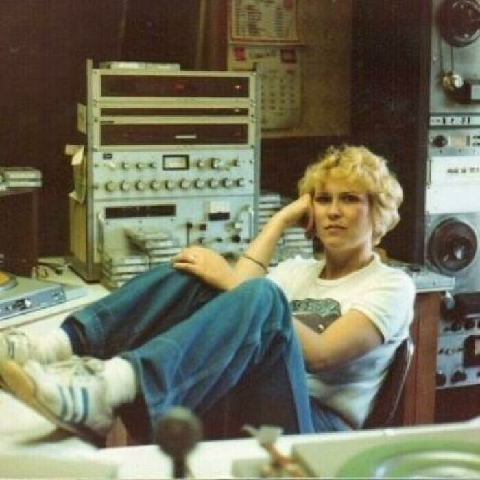 """Моя мама - диджей на радио, конец 1970-х"""