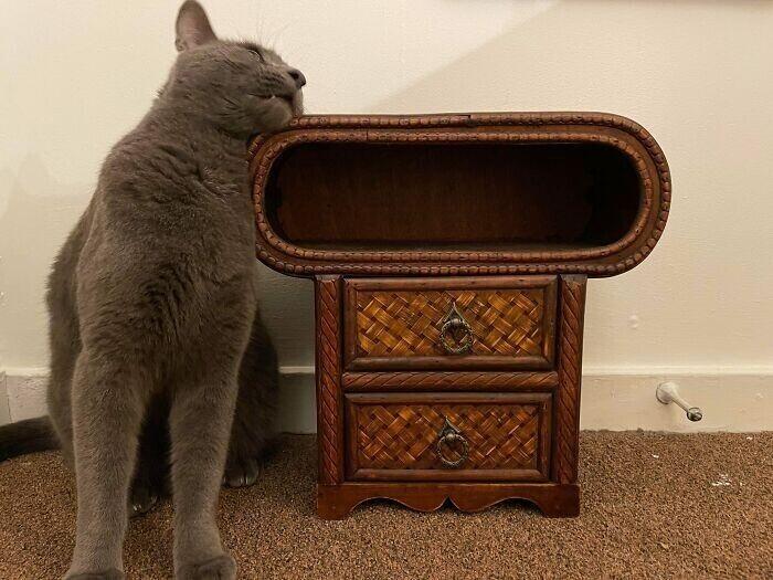 """""""Что это за странная тумбочка с открытым ящиком?"""""""