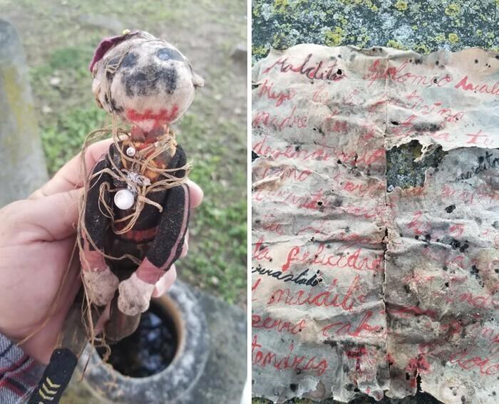 """""""Нашел на кладбище. Кукла была завернута в бумагу, поверх нее замотана в ткань. Это что-то опасное?"""""""