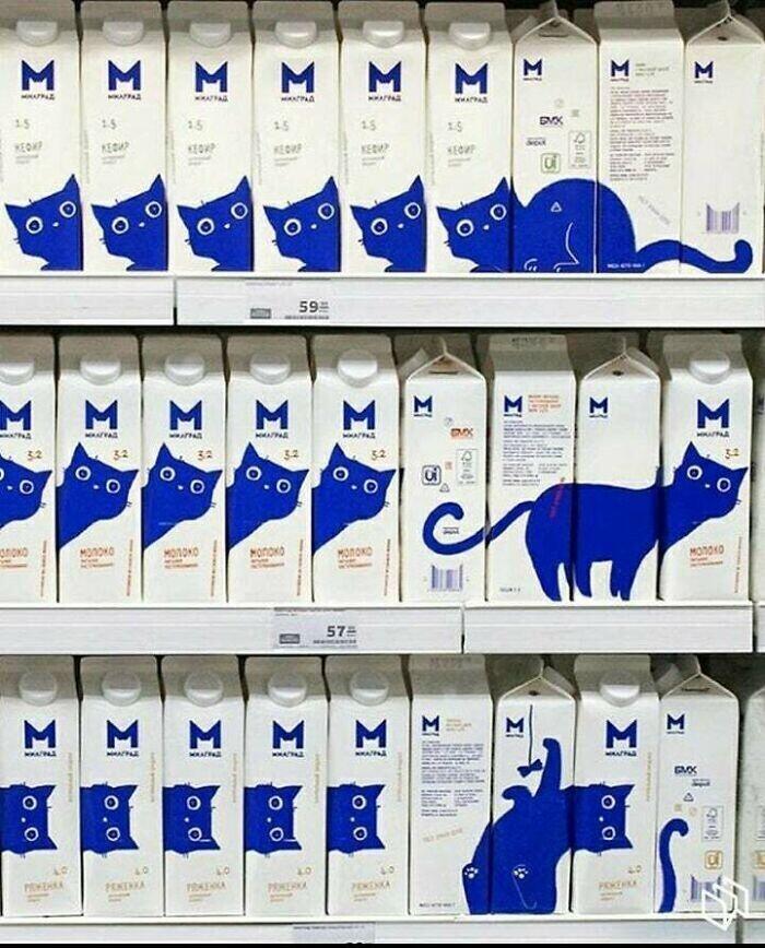 Это не просто молоко с котиком. Это молоко-конструктор с котиком!