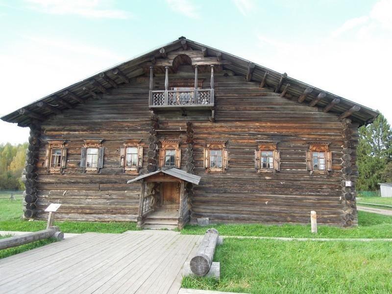 Бревенчатые многоэтажки у крестьян на Русском Севере