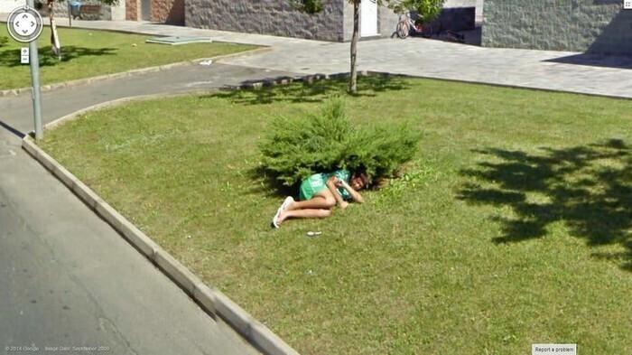 Засекли: убойные кадры с Google Maps