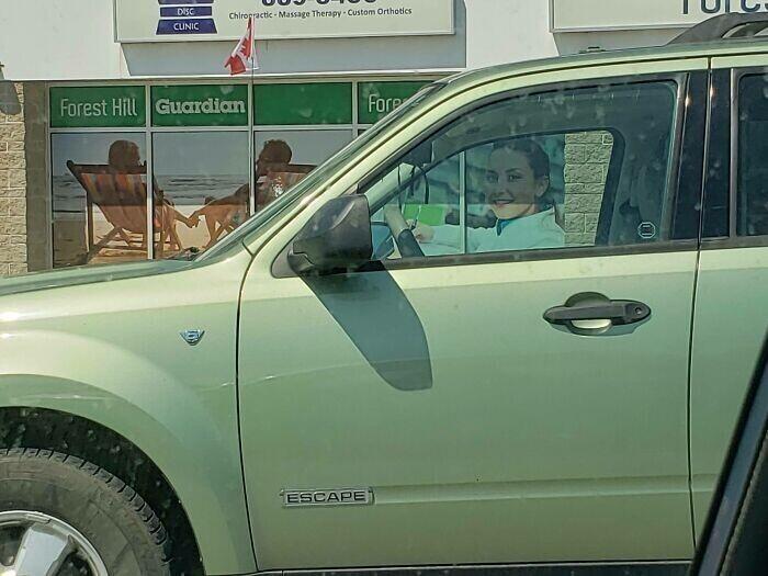 """""""Я сначала не понимал, почему эта женщина за рулем так на меня смотрит"""""""