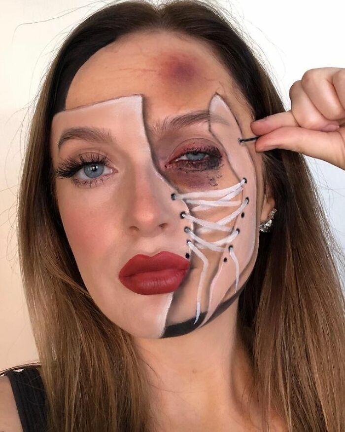 Не грим-макияж, а просто чудеса в решете