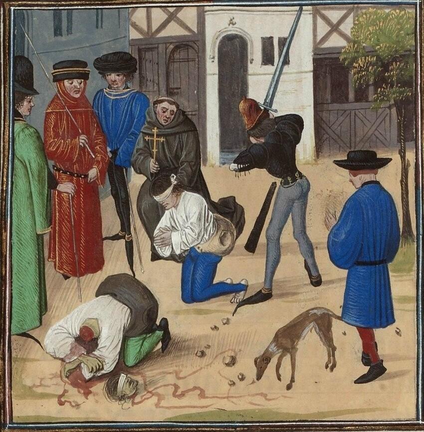 В Италии во времена святого Франциска ( 1182-1220 гг) применялась смертельная казнь путем сдирания кожи заживо за перевод Библии на другие языки