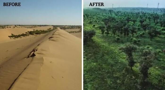 На северо-западе Китая исчезла пустыня Му-Ус площадью 42 200 квадратных километров. Вместо нее появился оазис