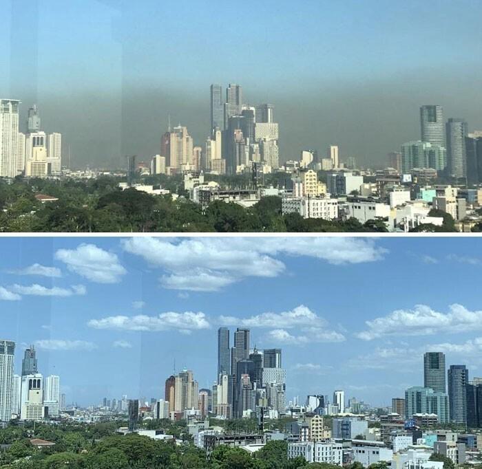 Столица Филиппин до и после карантина
