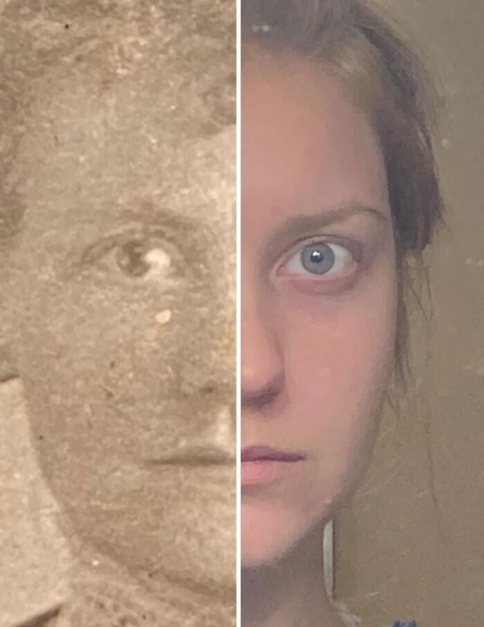 """""""Что изменилось за 122 года? Нашла фотографию моей прабабушки. То-то я смотрю, выглядит очень знакомо"""""""