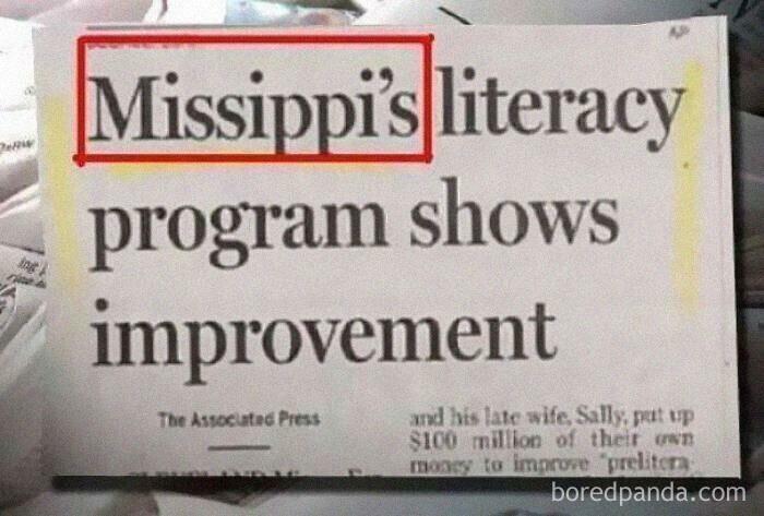 """""""Программа по повышению грамотности в штате Мессисипи показала хороший результат"""""""