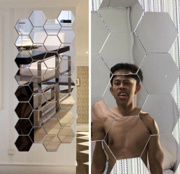 Нет, его не сбило Камазом, просто он выбрал неудачное зеркало для селфи