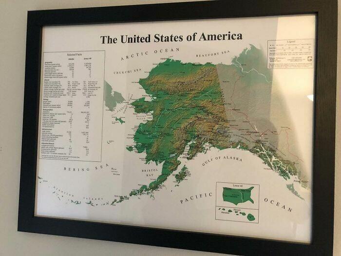 США как их видят на Аляске