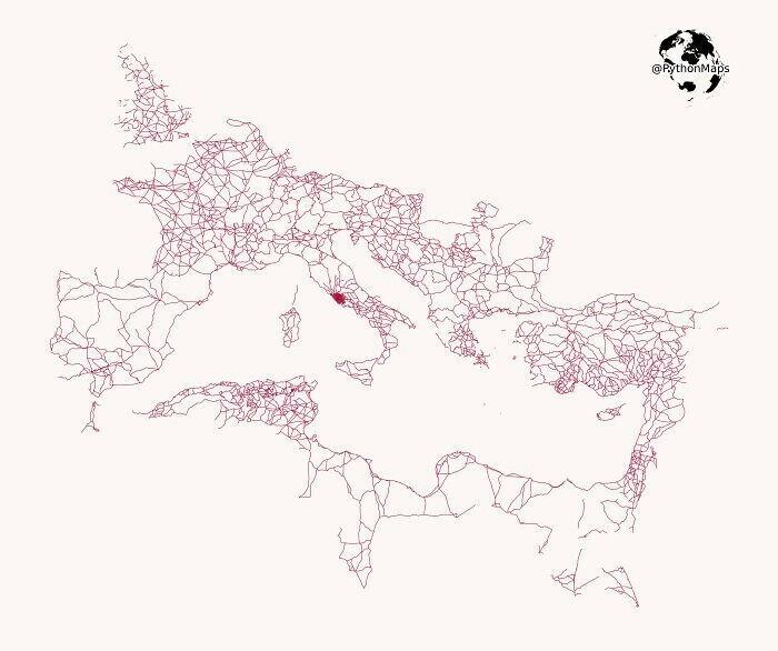 Система дорог, построенных римлянами во времена Римской империи