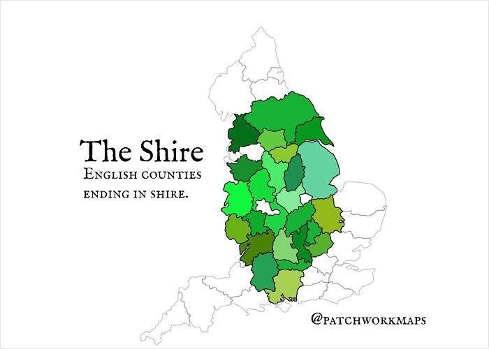 """Графства Англии, название которых оканчивается на """"-шир"""""""