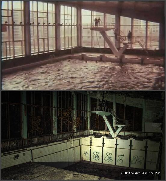 Чернобыль в 1984 году и в 2011 году
