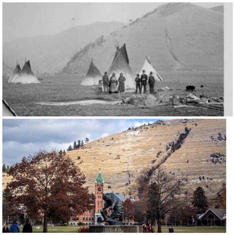 Университет Монтаны с разницей примерно в 150 лет