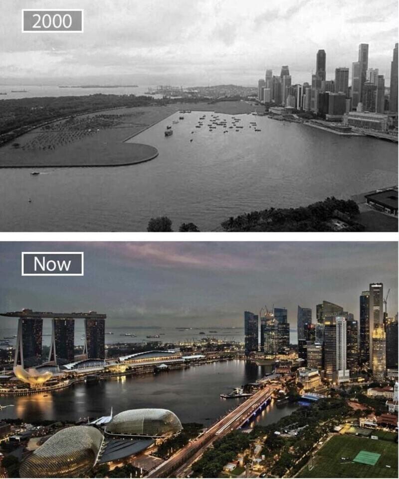 Сингапур в 2000-м и сейчас