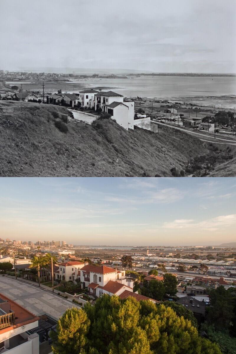 Сан-Диего, Калифорния, в 1927 году и в 2020-м