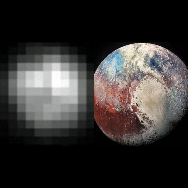 Ну и напоследок - как мы видели Плутон в 1994 году и как мы видим его сегодня
