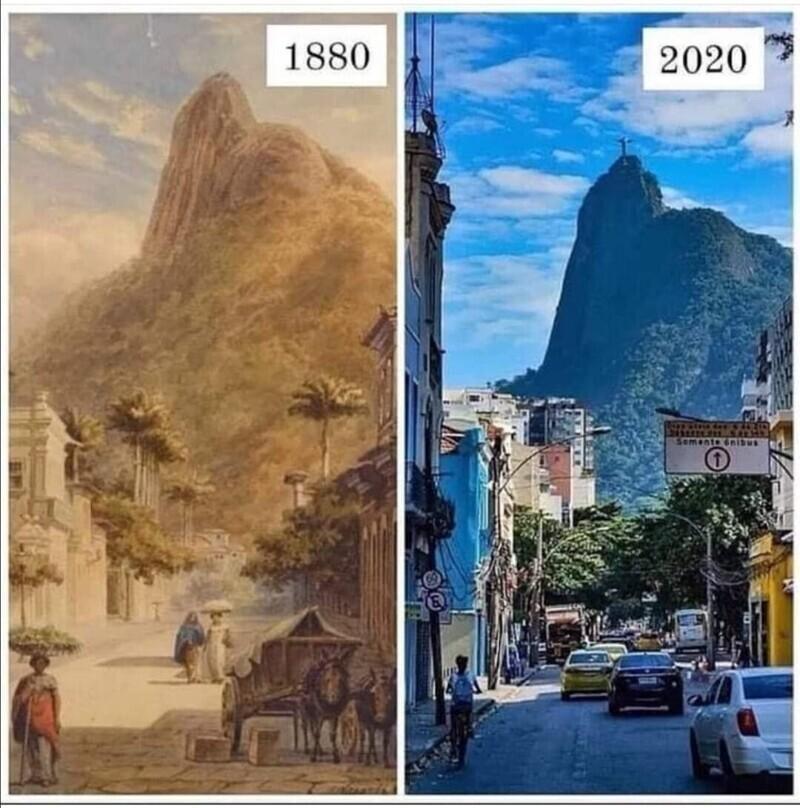 Рио-де-Жанейро в 1880-м и в 2020 году