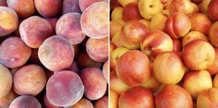 Персики и нектарины - тоже один и тот же фрукт