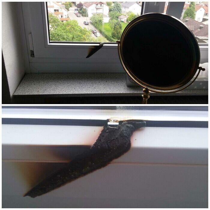 """""""Мама случайно оставила зеркало с утра на окне. Вернувшись вечером, она увидела это"""""""