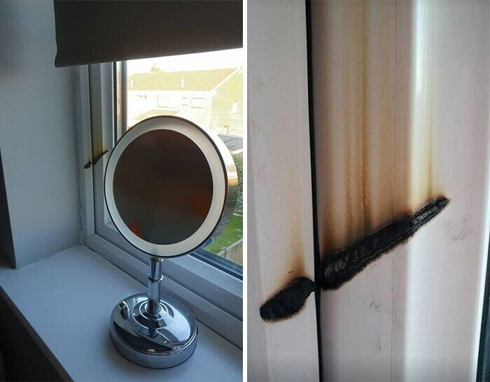 """""""Зеркало для макияжа чуть не сожгло мне ванную"""""""