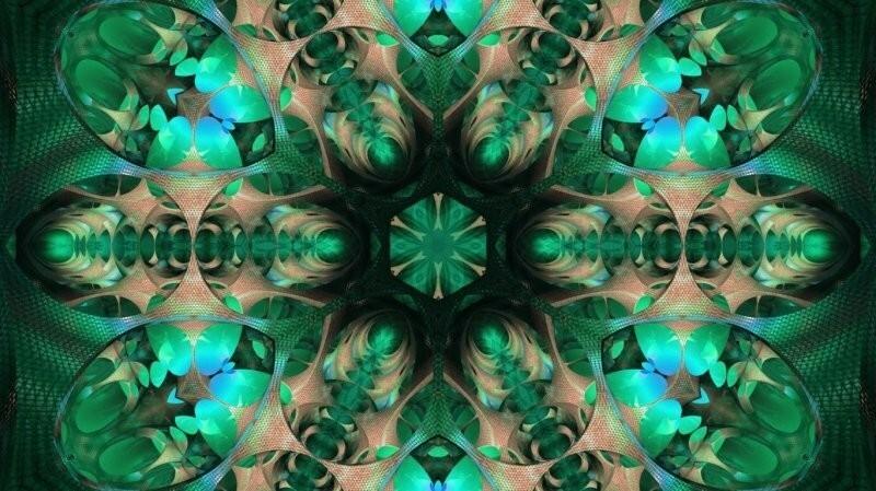 Узоры в калейдоскопе практически никогда не повторяются, поэтому каждый его поворот приводит к появлению нового узора