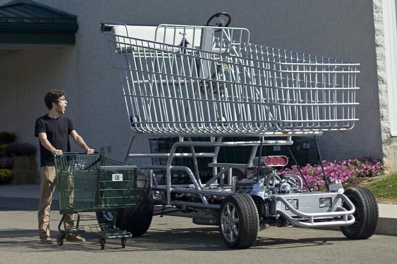 7. Shopper Chopper — это трёхметровая тележка для покупок, которая зародилась как безумная идея одного из бакалейщиков