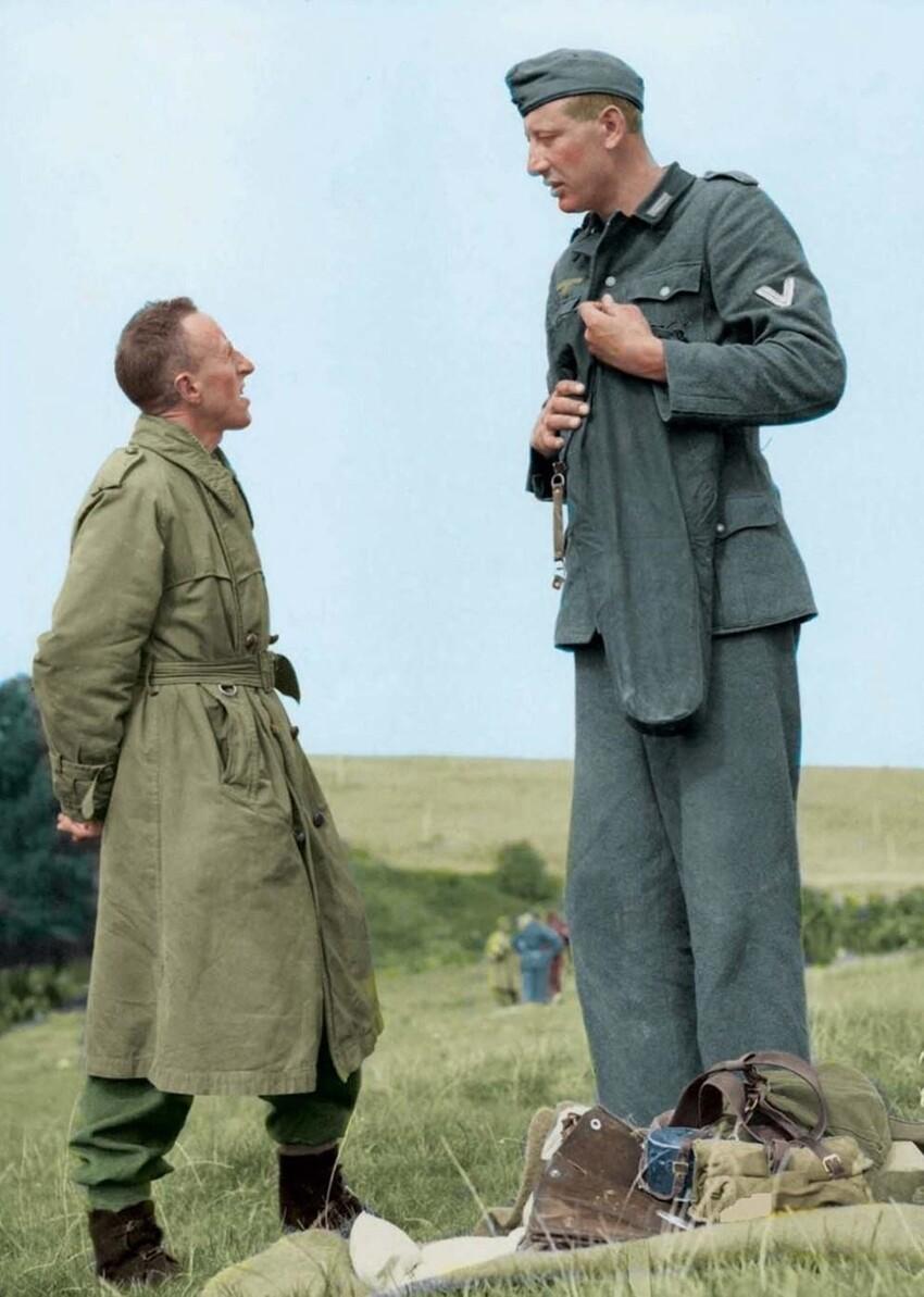 Якоб Накен, самый высокий немецкий солдат Второй мировой войны, 1944 год.