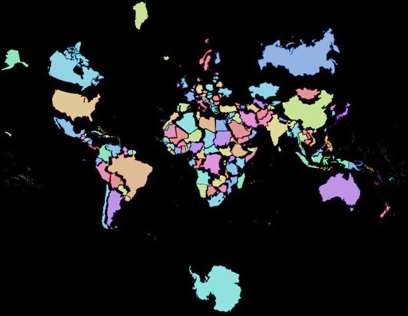 Реальные размеры стран