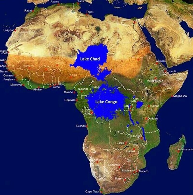 Что произошло бы с Африкой, если бы устье реки Конго было перекрыто дамбой