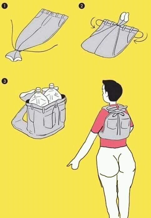 Типичный лайфхак лайфхакера, у которого нет денег на рюкзак