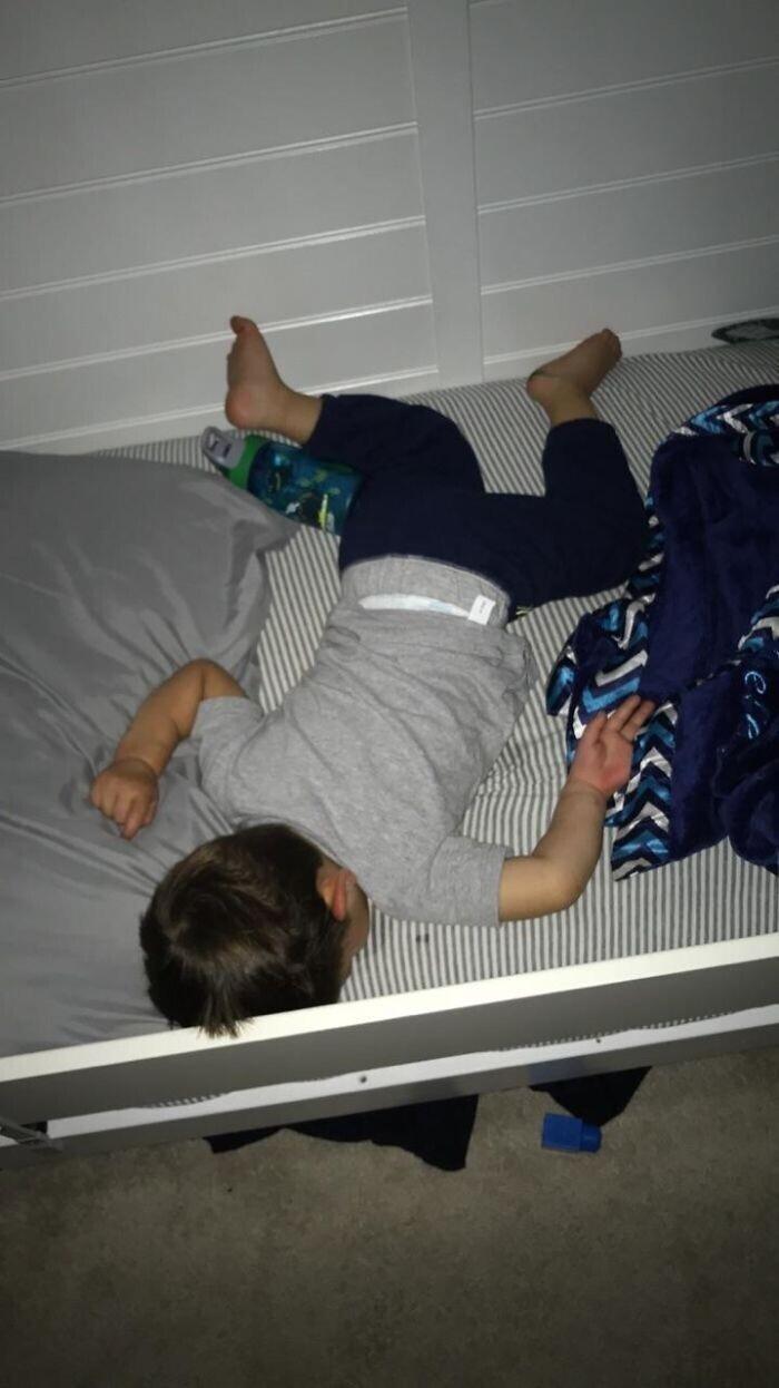 """""""Мой сын спит так, как будто он упал в мультике """"Гриффины"""""""