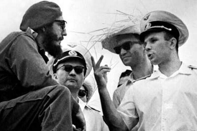 Совместное фото с Фиделем Кастро