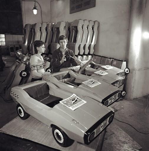 Детские  педальные автомобили — «Малыш», выпускались Челябинским кузнечно-прессовым заводом. 1983 год.