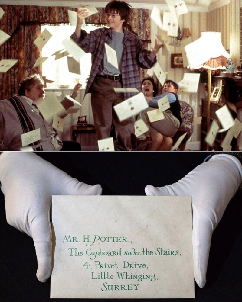 """Письмо о приеме в Хогвартс - """"Гарри Поттер и философский камень"""""""