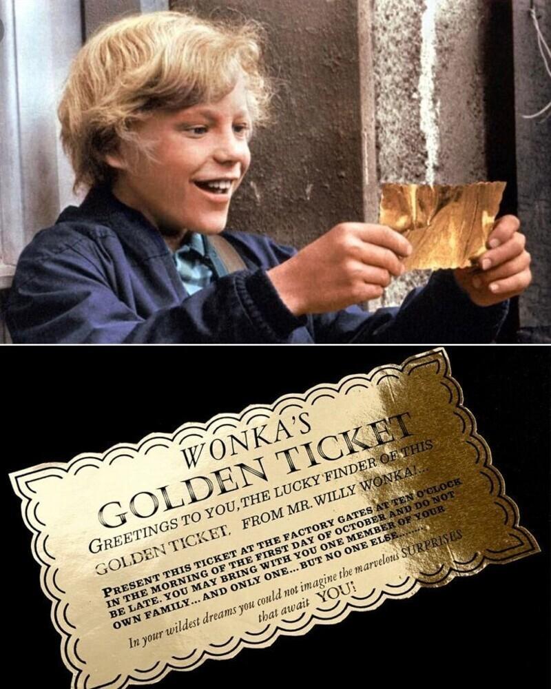 """Золотой билет - """"Вилли Вонка и шоколадная фабрика"""""""