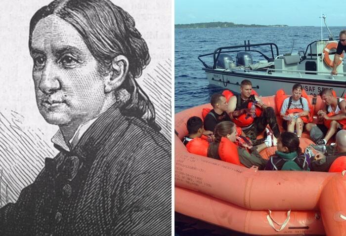 Мария Бизли и спасательный плот