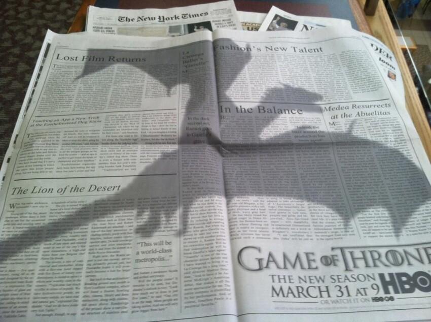 """Если вы видите тень дракона, то скоро выйдет новая серия """"Игры престолов"""""""