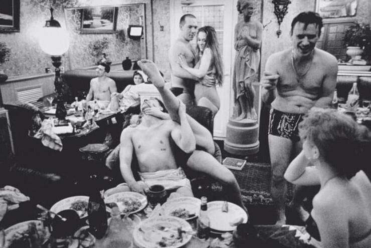 18. В VIP-номере Сандуновских бань, Москва, 1997 год