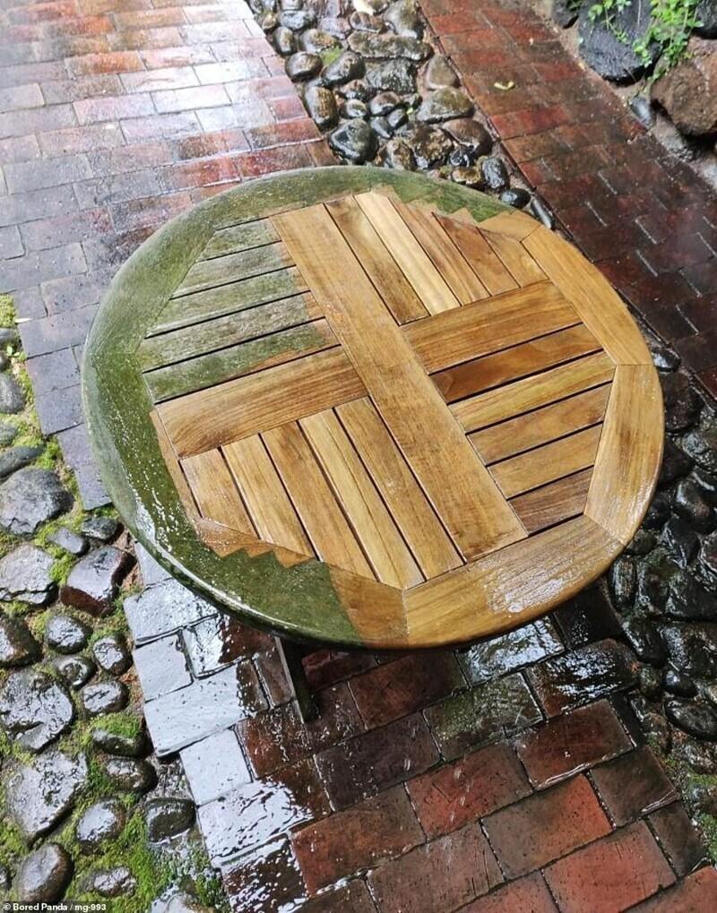 """""""Я нашел столик на улице и дал ему второй шанс с помощью мойки. Отлично получилось!"""""""