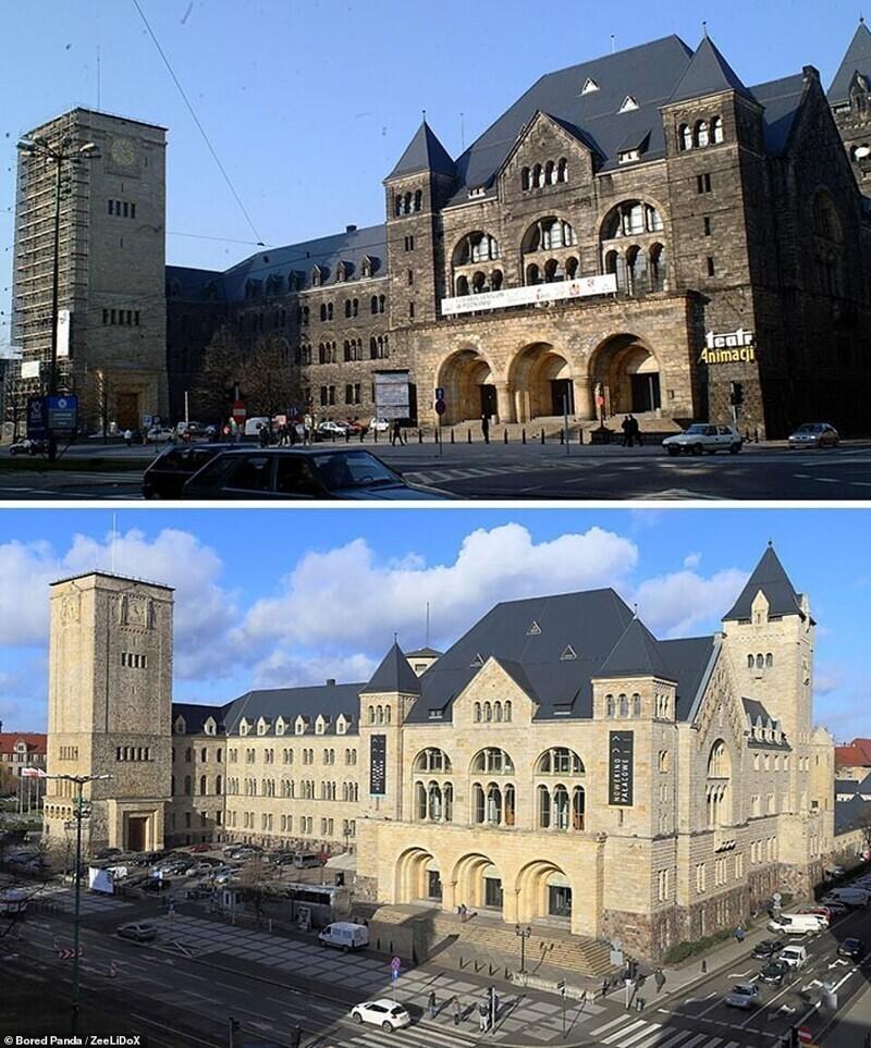 А тут под давлением вымыли целый королевский замок в Познани